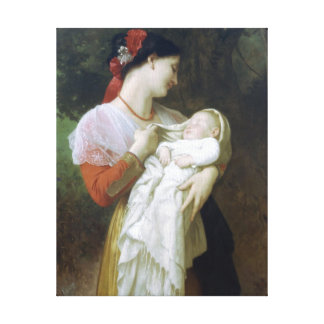 Maternal Admiration by William Adolphe Bouguereau Canvas Print