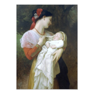 Maternal Admiration by William Adolphe Bouguereau Card