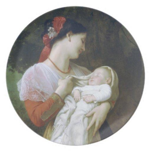 Maternal admiration dinner plate