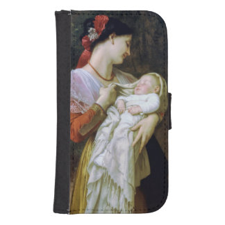 Maternal Adoration Vintage Art Phone Wallet