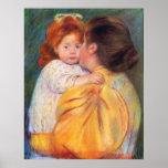Maternal Kiss, Mary Cassatt Poster
