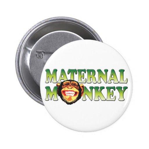 Maternal Monkey 2 Inch Round Button