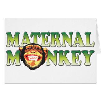 Maternal Monkey Card