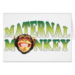 Maternal Monkey Greeting Card