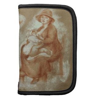 Maternidad 1885-6 tiza roja en el papel planificador