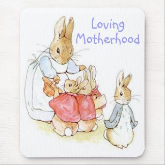 Maternidad cariñosa, cojín de ratón de Beatrix Pot Tapetes De Ratón