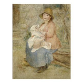 Maternidad de Pierre-Auguste Renoir Cojinete