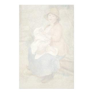 Maternidad de Pierre-Auguste Renoir Papelería De Diseño