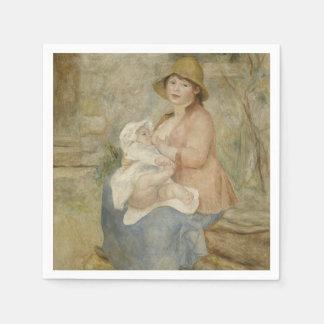 Maternidad de Pierre-Auguste Renoir Servilletas De Papel