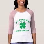 Maternidad embarazada irlandesa divertida camiseta