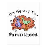 Maternidad linda postal