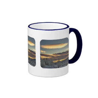 Maternidad nublada tazas de café