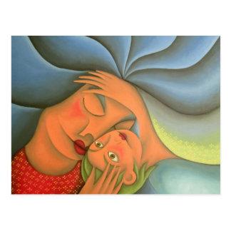 Maternidad pintura óleo arte. Mom. Tarjetas Postales