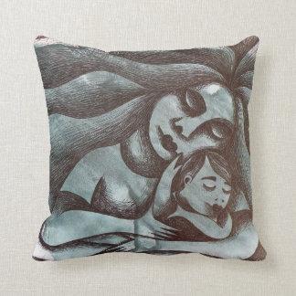 Maternidad sobre fondo abstracto. Mother. Throw Pillow