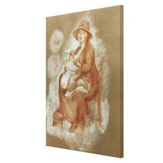 Maternity, 1885-6 (red chalk on paper) stretched canvas prints