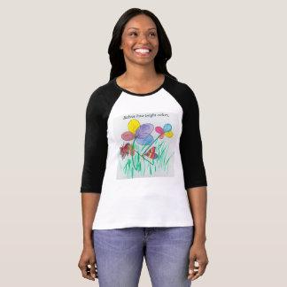 Maternity 3/4raglan sleeve T-Shirt w/flowers large