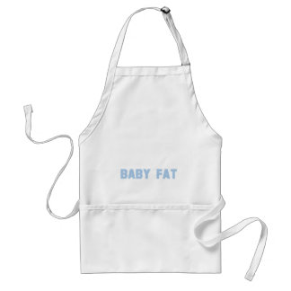 Maternity Baby Fat Blue Adult Apron