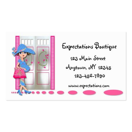 Expecting Pregnant Mothers Maternity Store Business Cards