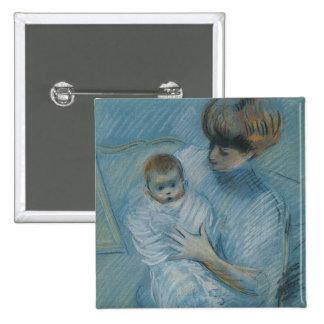 Maternity 2 Inch Square Button