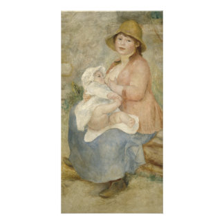 Maternity by Pierre-Auguste Renoir Customized Photo Card