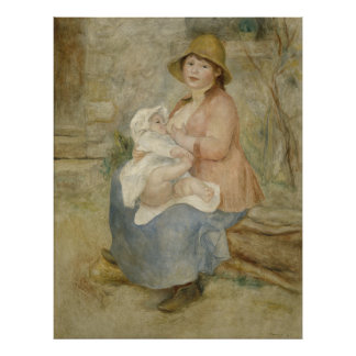 Maternity by Pierre-Auguste Renoir Poster