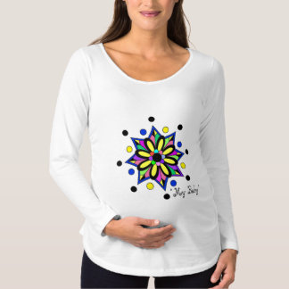 MATERNITY COMFY SHIRT ADORABLE COLORFUL TRENDY