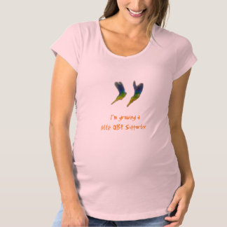 Maternity (Girls) T-shirt 'Little OBP supporter'