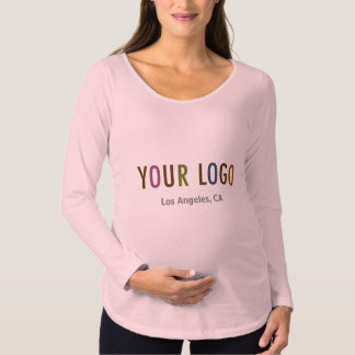 Maternity Long Sleeve Shirt Uniform Company Logo
