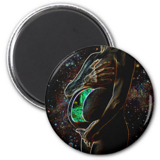 Maternity of the small extraterrestrial android refrigerator magnets