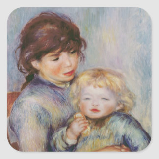 Maternity, or Child with a biscuit, 1887 Square Sticker