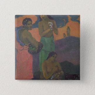 Maternity, or Three Women on the Seashore, 1899 Pinback Button