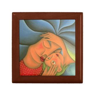 Maternity painting oil art. Mom. Keepsake Box