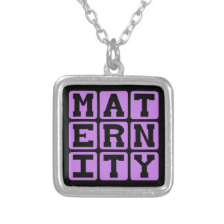 Maternity Pregnant With Child Custom Necklace