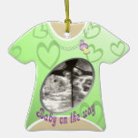 Maternity Shirt/ green Christmas Ornament