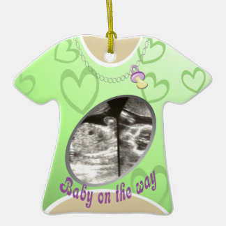 Maternity Shirt/ green Double-Sided T-Shirt Ceramic Christmas Ornament