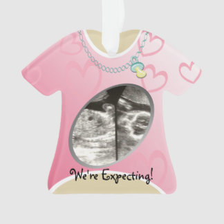 Maternity Shirt Pink Baby Announcement Ornament