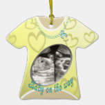 Maternity Shirt/ yellow Ornaments