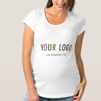 Maternity T-Shirt Custom Business Logo Uniform
