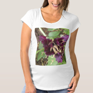 Maternity T-shirt w/ purple flower, ex large