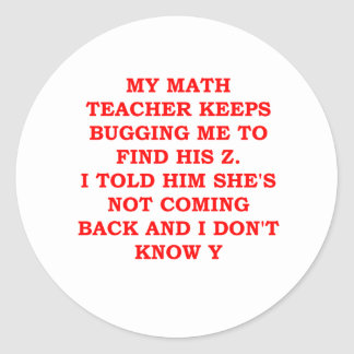 MATH2.png Round Stickers