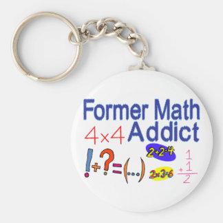 Math Addict Basic Round Button Keychain