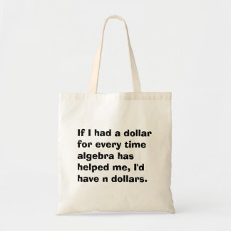 Math Algebra Math Tote Bag