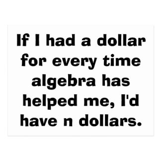 Math Algebra Postcards