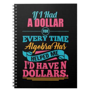 Math Algebra Pun Notebook