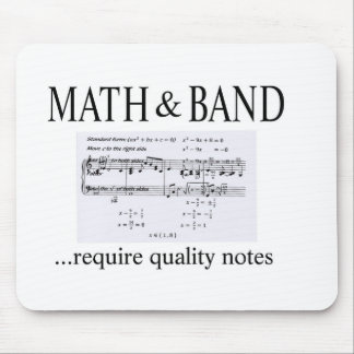 math and band revision mouse pad