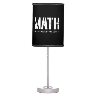 Math and Cool Kids Desk Lamp