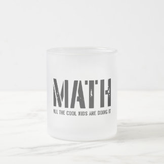 Math and Cool Kids Frosted Glass Coffee Mug