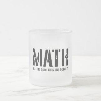 Math and Cool Kids 10 Oz Frosted Glass Coffee Mug
