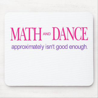 Math and Dance _ color text Mouse Pad