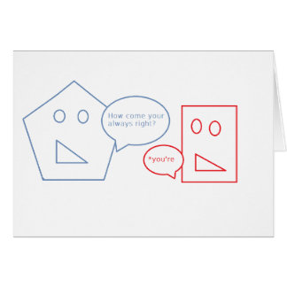 Math and English Pun Greeting Card